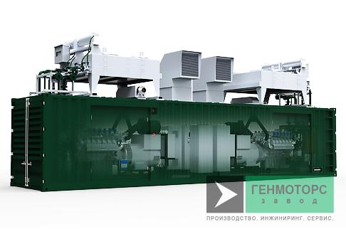 Газопоршневая электростанция (ГПУ) PowerLink PB400С-12T-NG