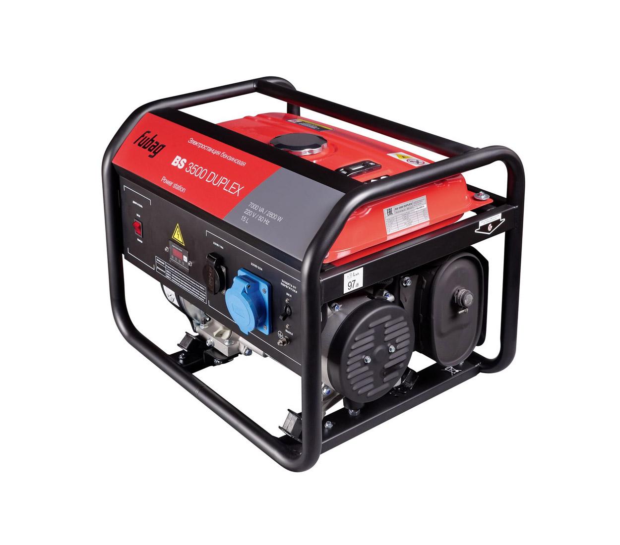 Бензиновый генератор (Бензогенератор) FUBAG BS 3500 Duplex