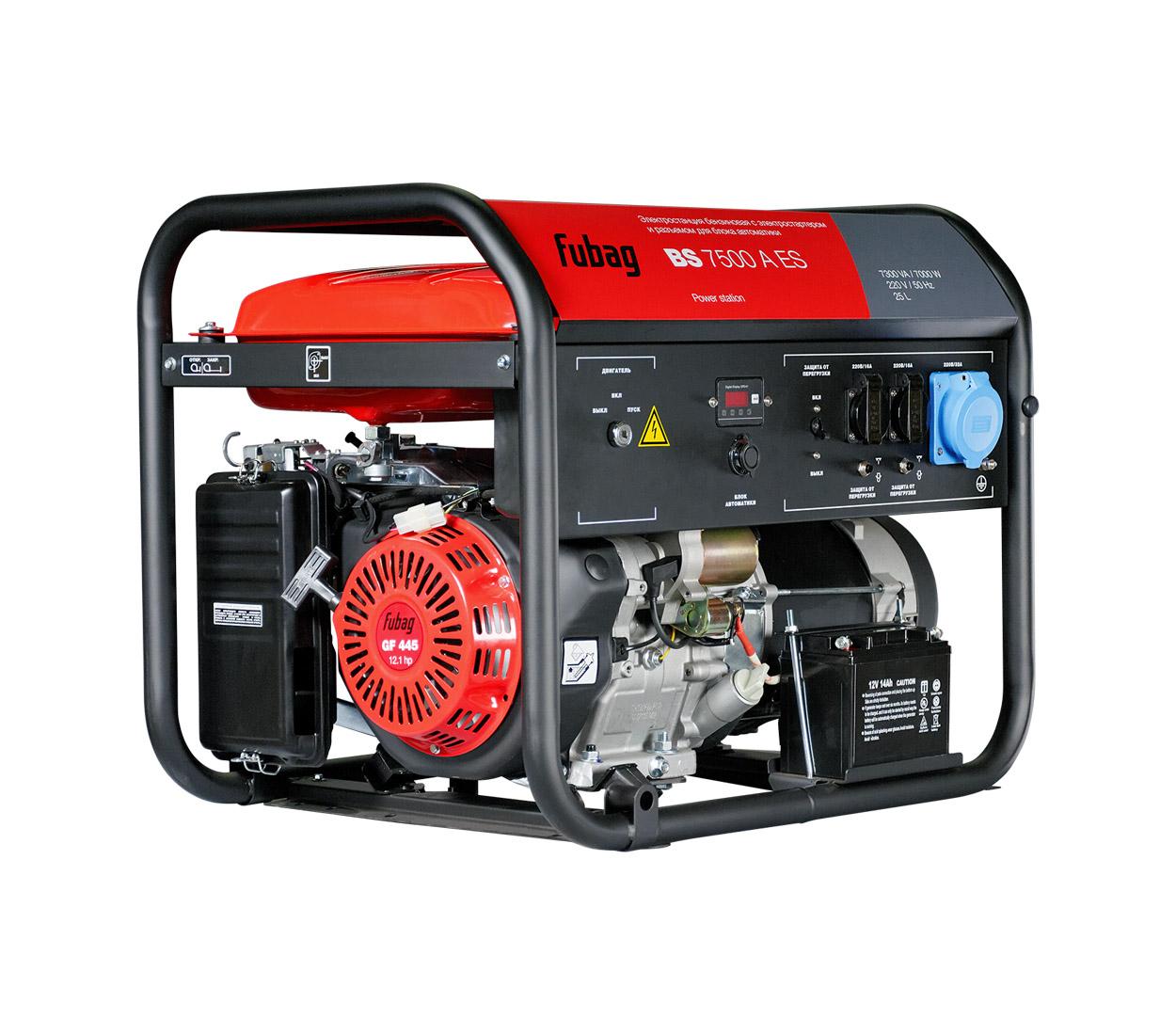 Бензиновый генератор (Бензогенератор) FUBAG BS 7500 A ES