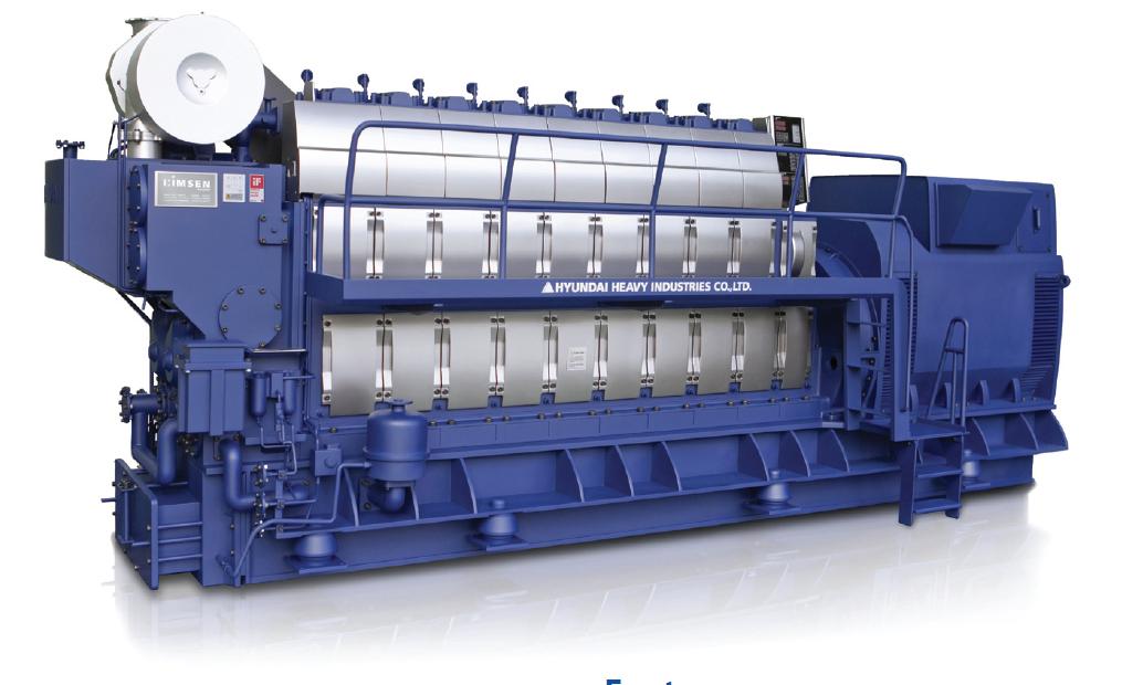 Дизельный генератор (электростанция) Hyundai HiMSEN 7H32/40