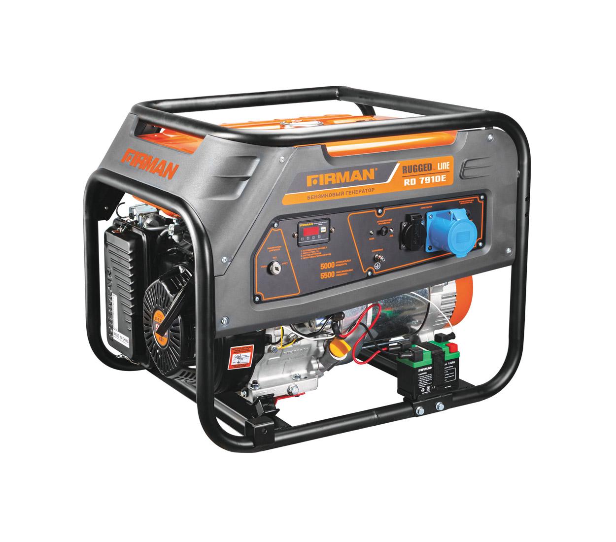 Бензиновый генератор (Бензогенератор) Firman RD7910E