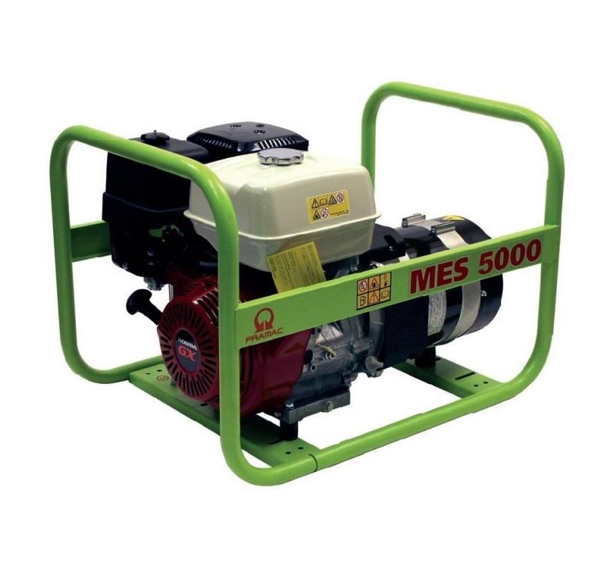 Бензиновый генератор (Бензогенератор) Pramac MES5000, 230V, 50Hz