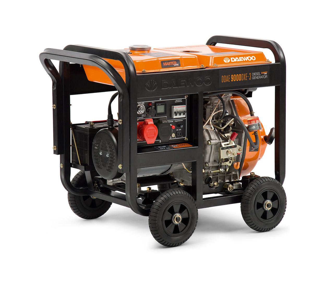 Дизельный генератор (электростанция) DAEWOO DDAE 9000DXE-3
