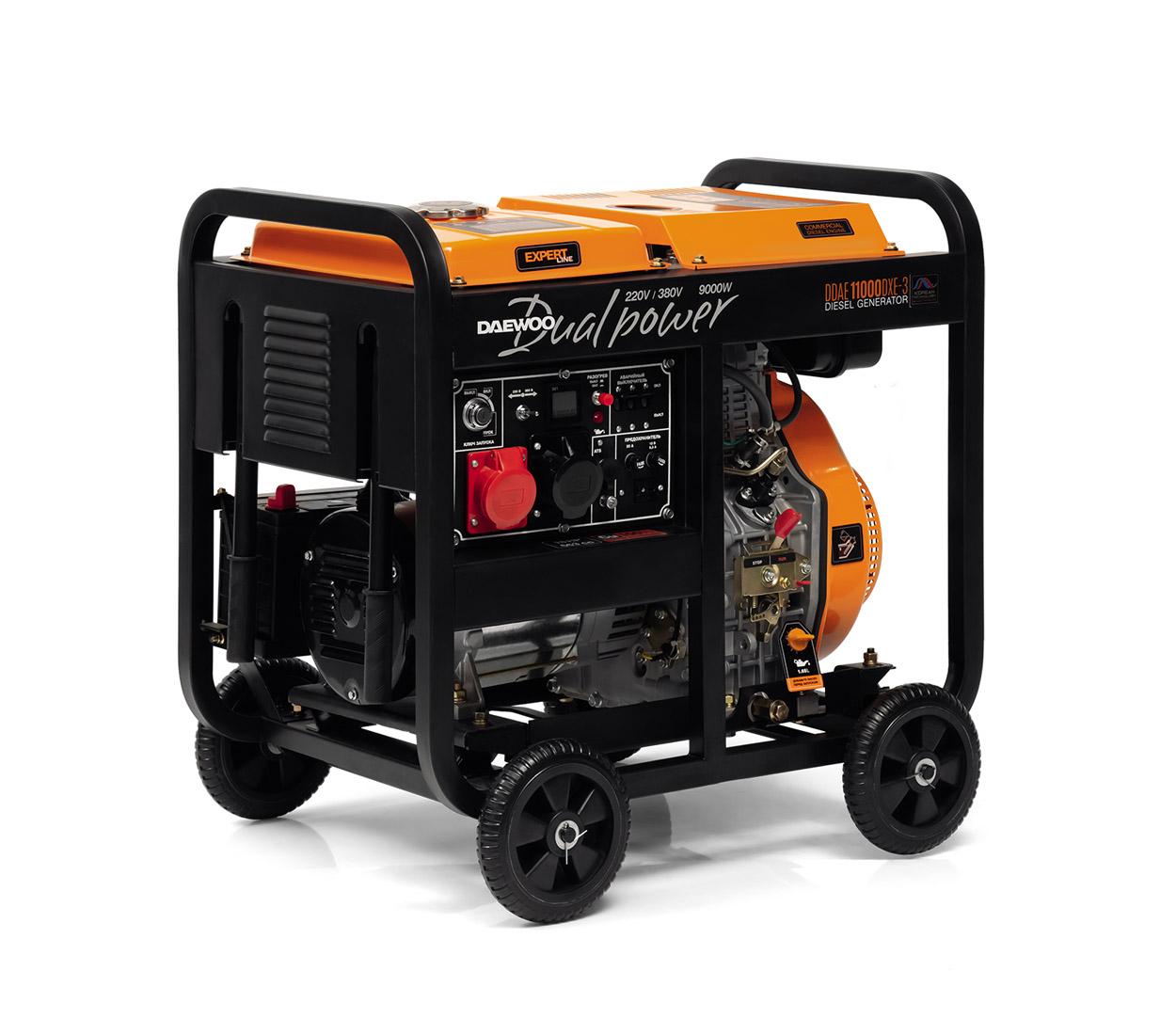 Дизельный генератор (электростанция) DAEWOO DDAE 11000DXE-3