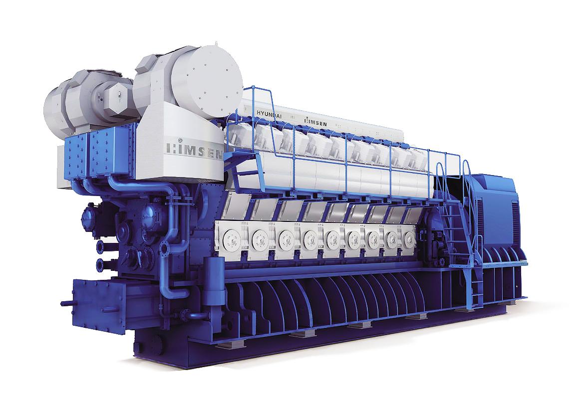 Газопоршневая электростанция (ГПУ) Hyundai HiMSEN 6H35/40G