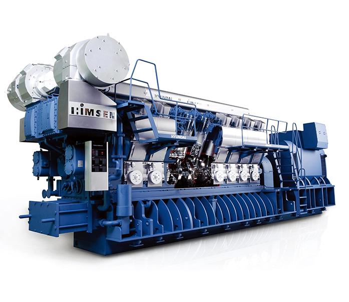 Газопоршневая электростанция (ГПУ) Hyundai HiMSEN 12H35DFV