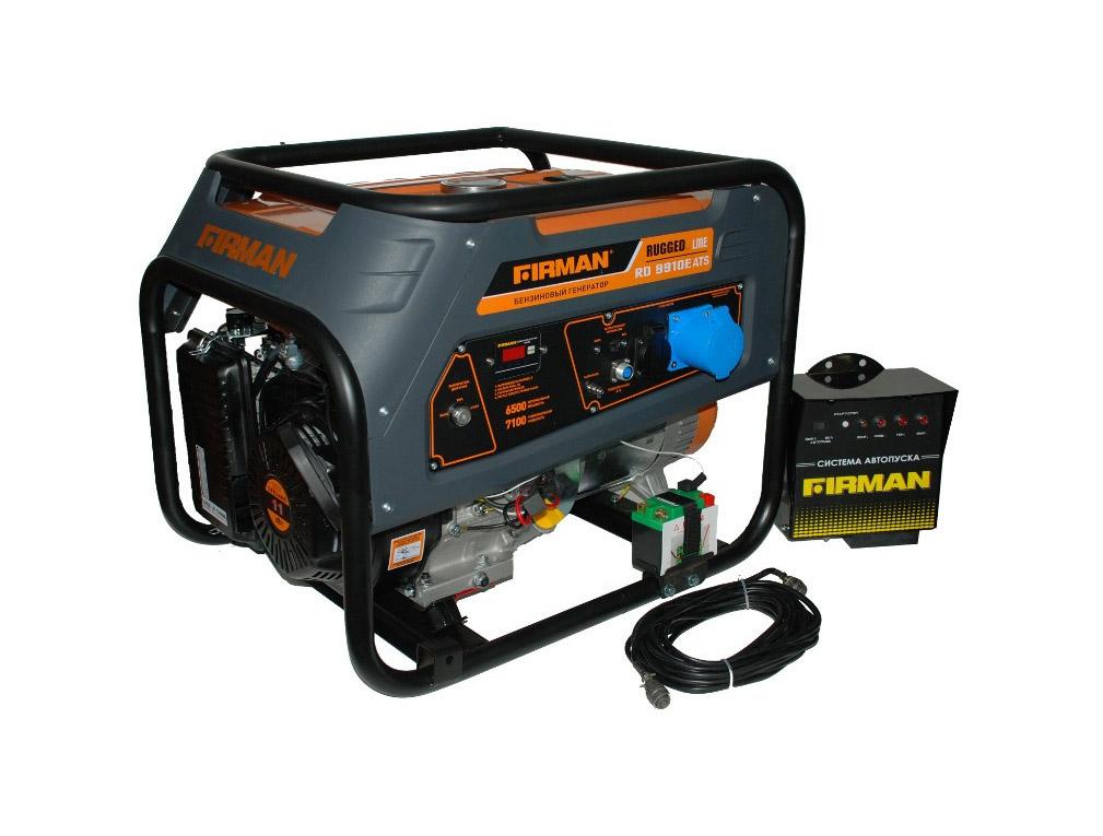 Бензиновый генератор (Бензогенератор) Firman RD8910E+ATS