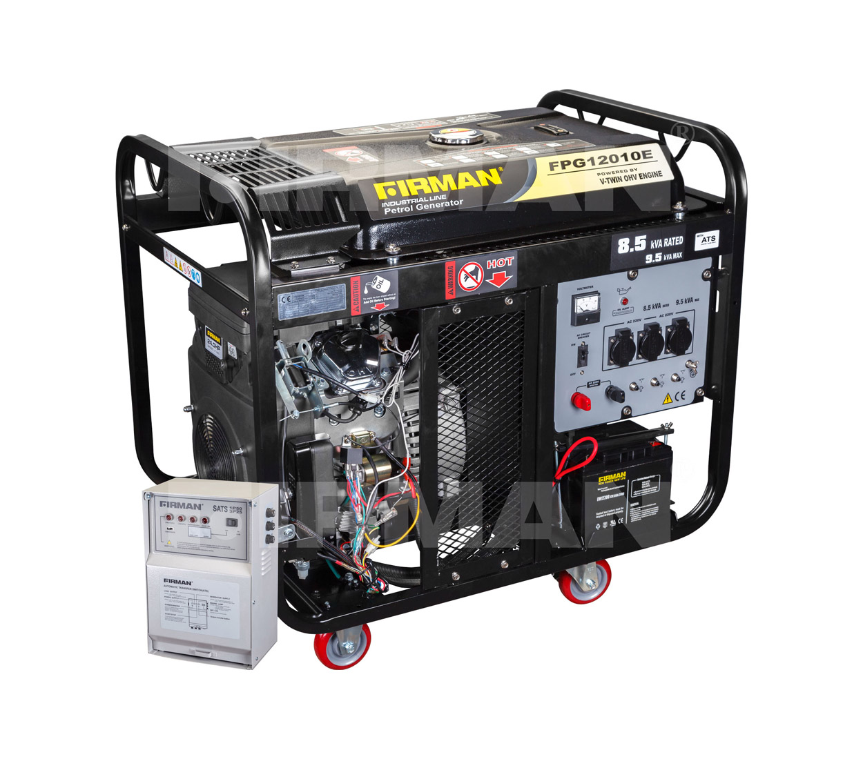 Бензиновый генератор (Бензогенератор) Firman FPG12010Е+ATS