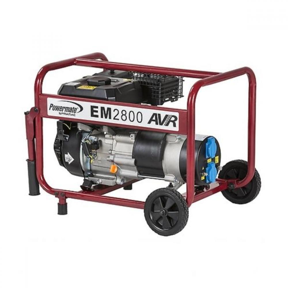 Бензиновый генератор (Бензогенератор) Pramac EM2800, 230V, 50Hz #Wheel kit