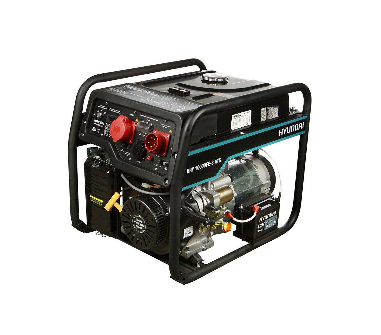 Бензиновый генератор (Бензогенератор) HYUNDAI HHY 10000FE-3 ATS