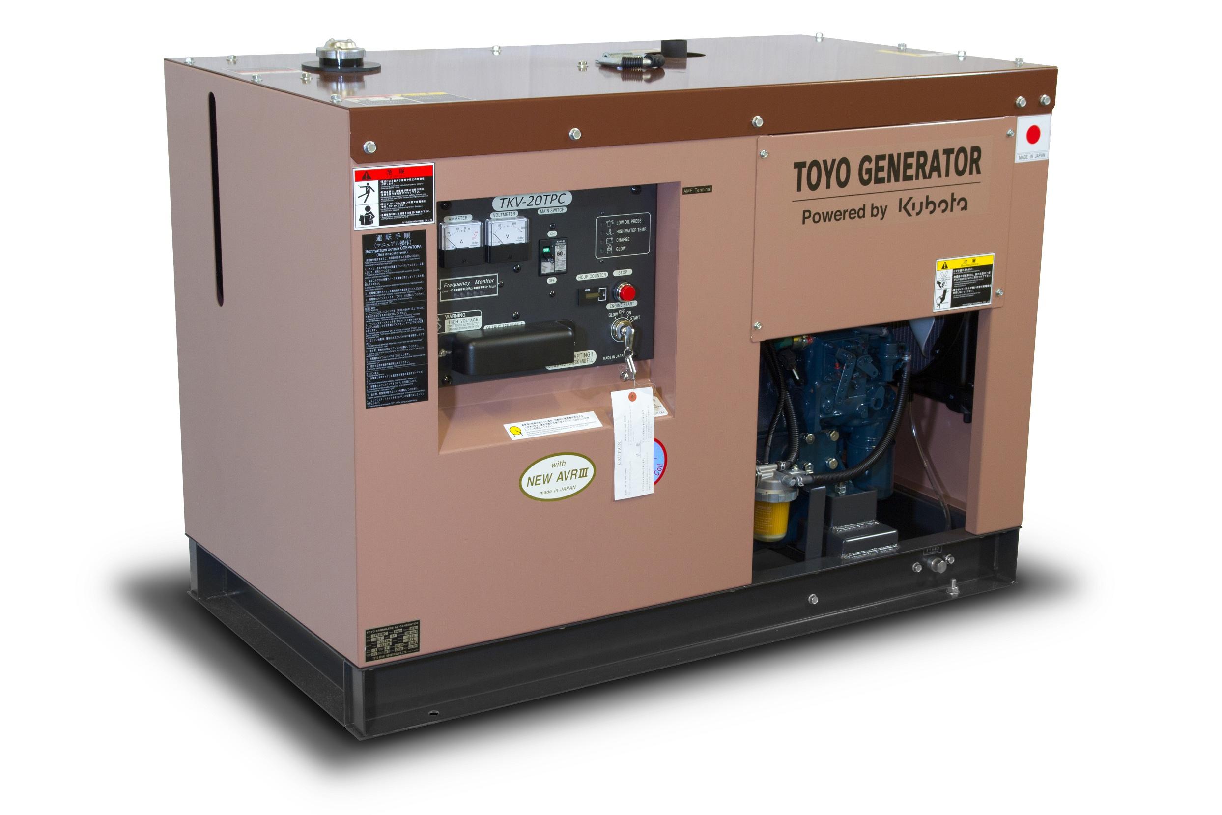 Дизельный генератор (электростанция) TOYO TKV-20TPC
