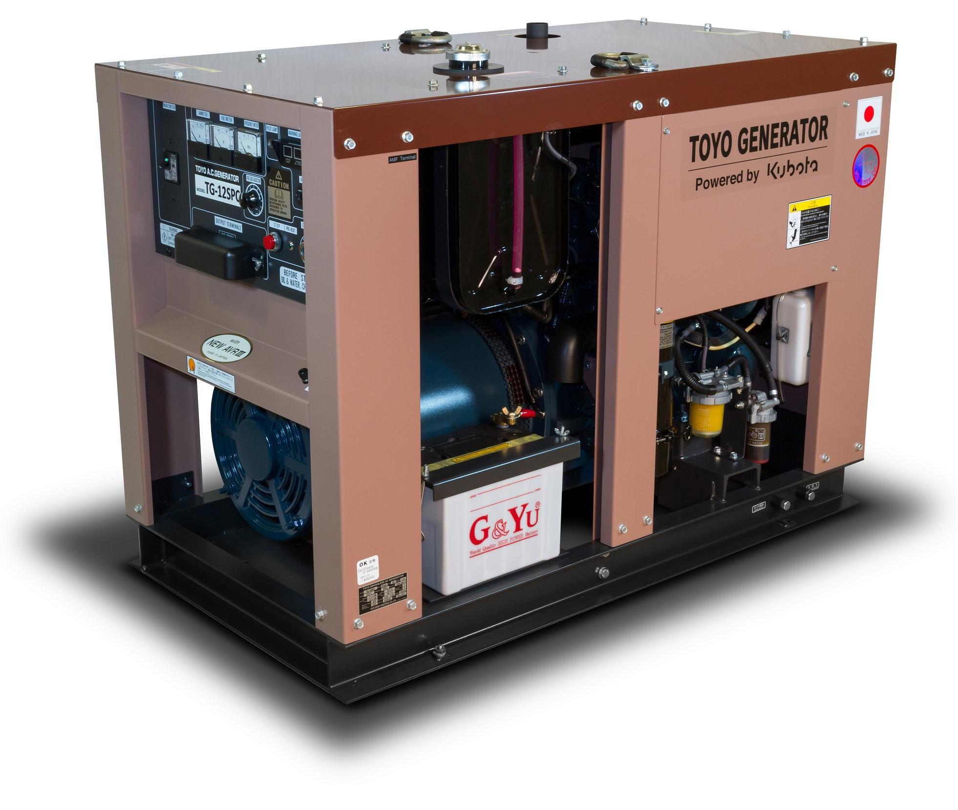 Дизельный генератор (электростанция) TOYO TG-12SPC