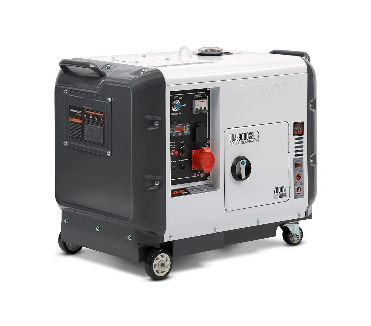 Дизельный генератор (электростанция) DAEWOO DDAE 9000SSE-3