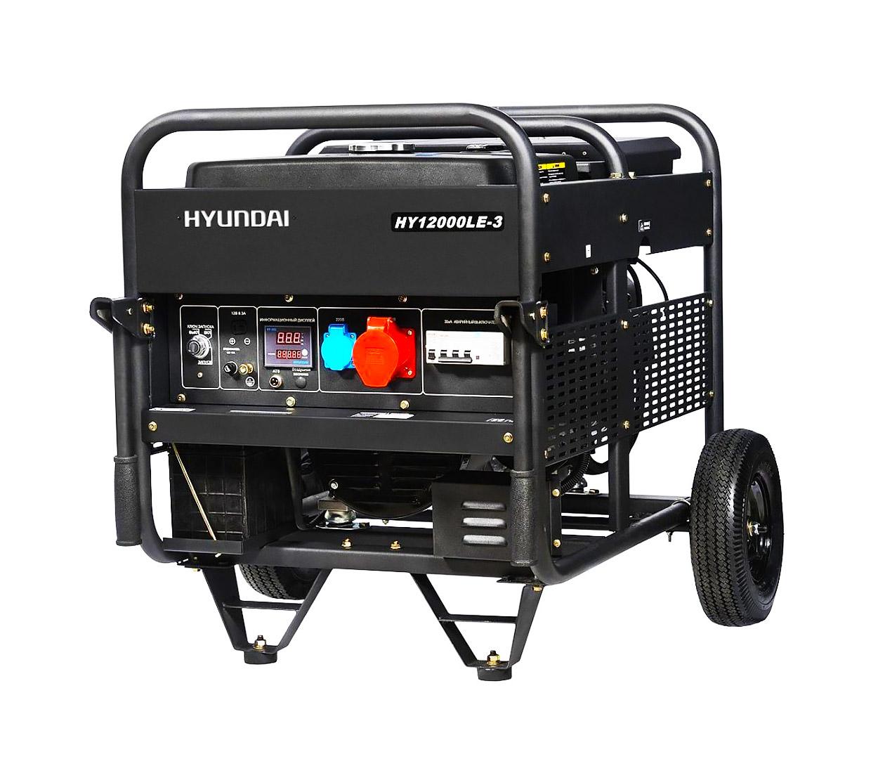 Бензиновый генератор (Бензогенератор) HYUNDAI HY 12000LE-3