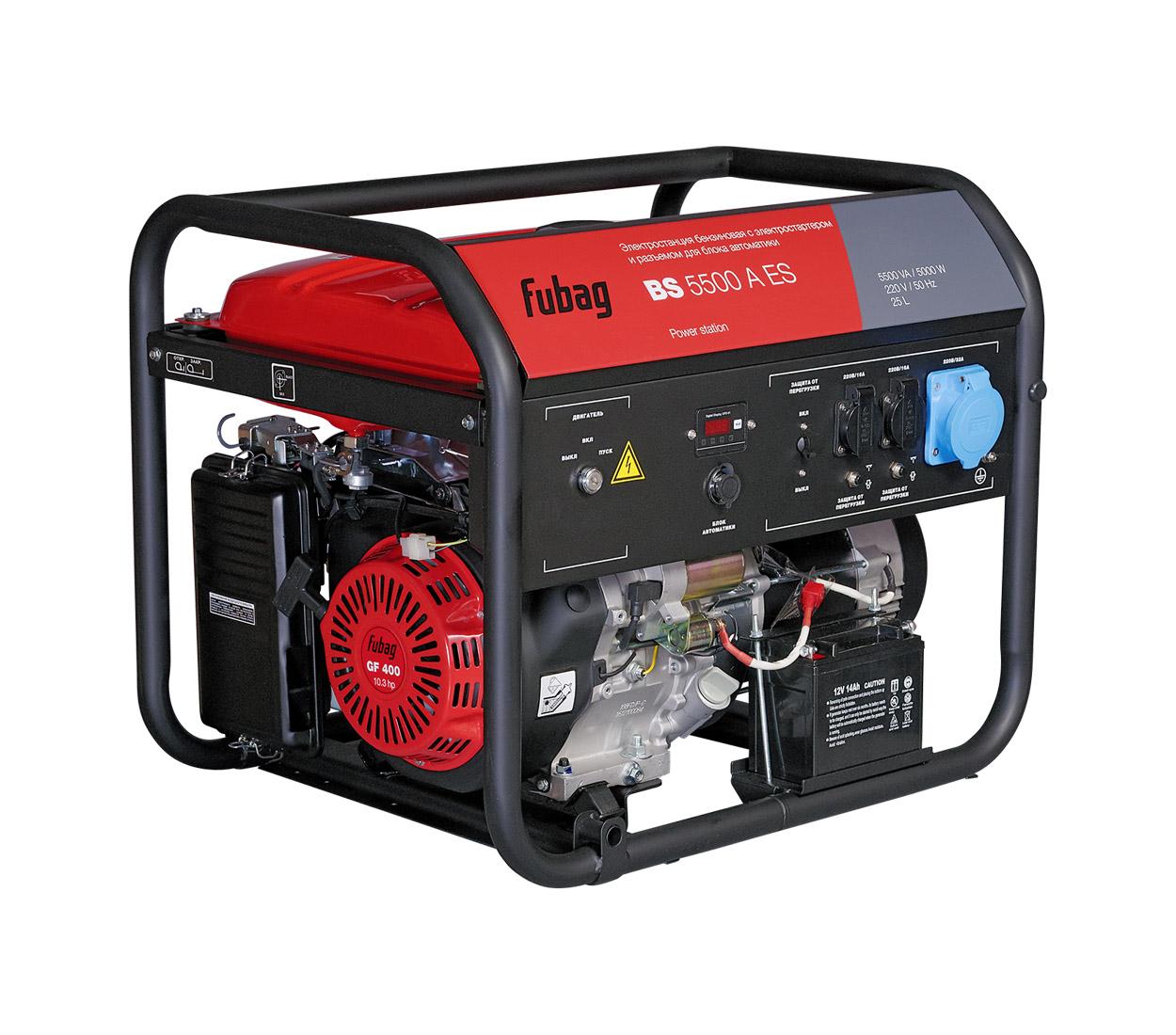 Бензиновый генератор (Бензогенератор) FUBAG BS 5500 A ES