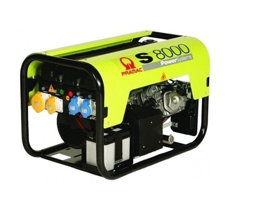 Бензиновый генератор (Бензогенератор) Pramac S8000, 230V, 50Hz #CONN