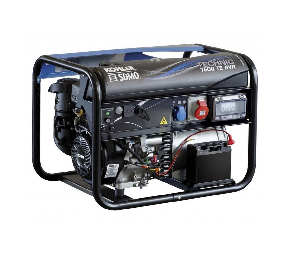 Бензиновый генератор (Бензогенератор) SDMO TECHNIC 7500 TE AVR