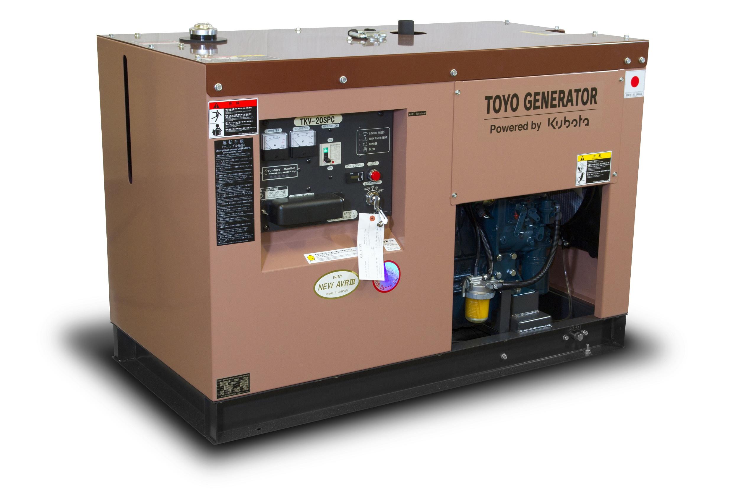 Дизельный генератор (электростанция) TOYO TKV-20SPC