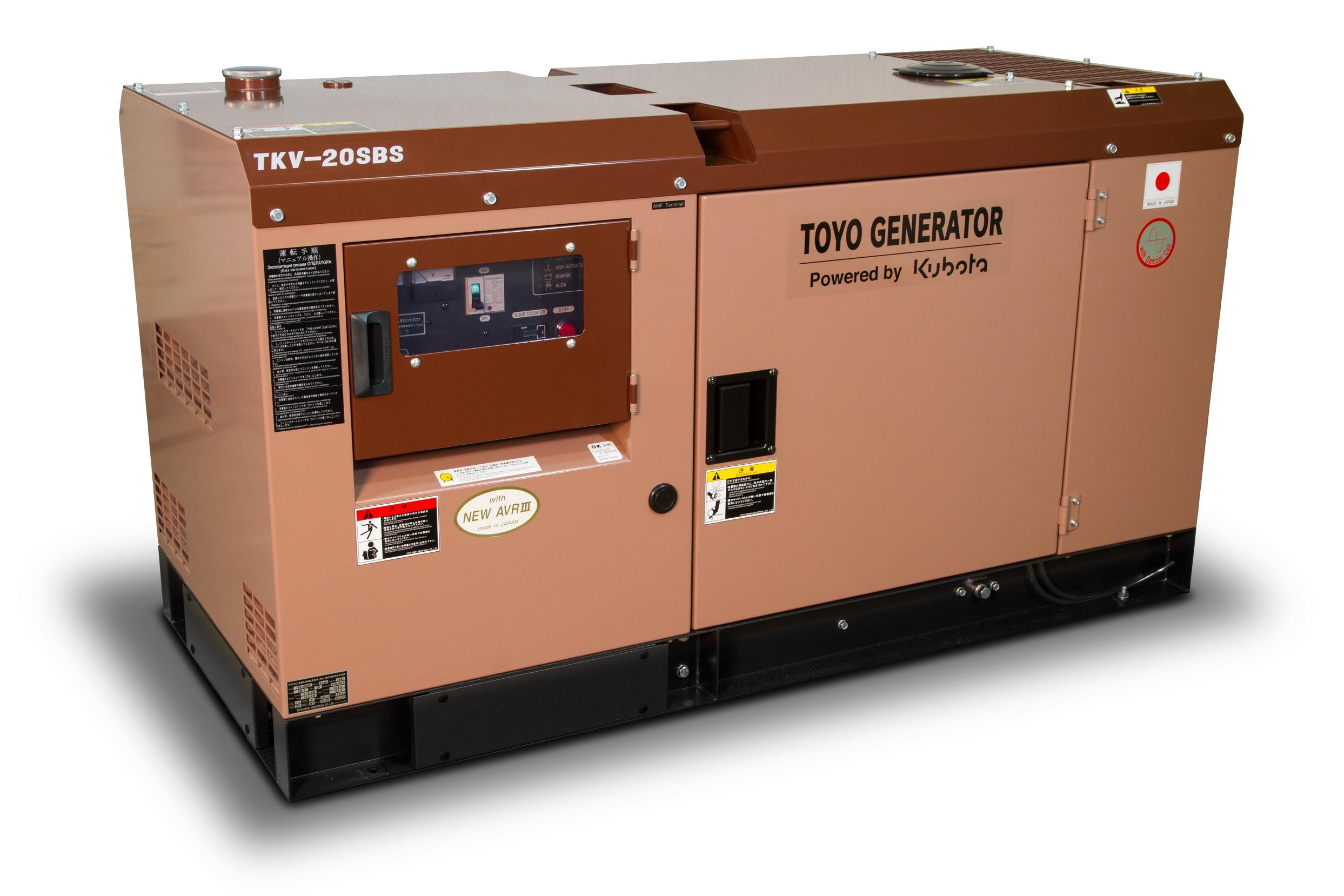 Дизельный генератор (электростанция) TOYO TKV-20SBS