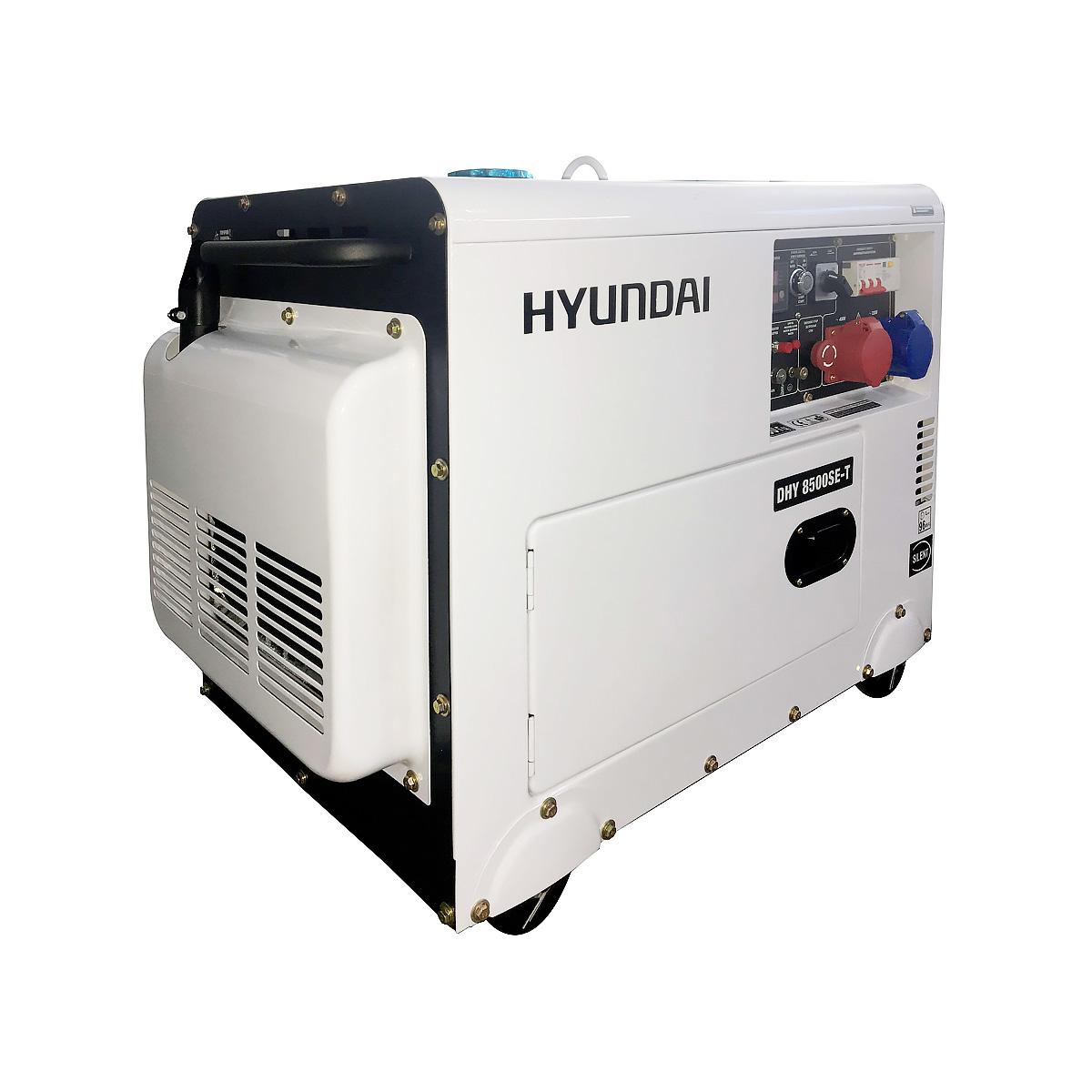 Дизельный генератор (электростанция) Hyundai DHY 8500SE-T