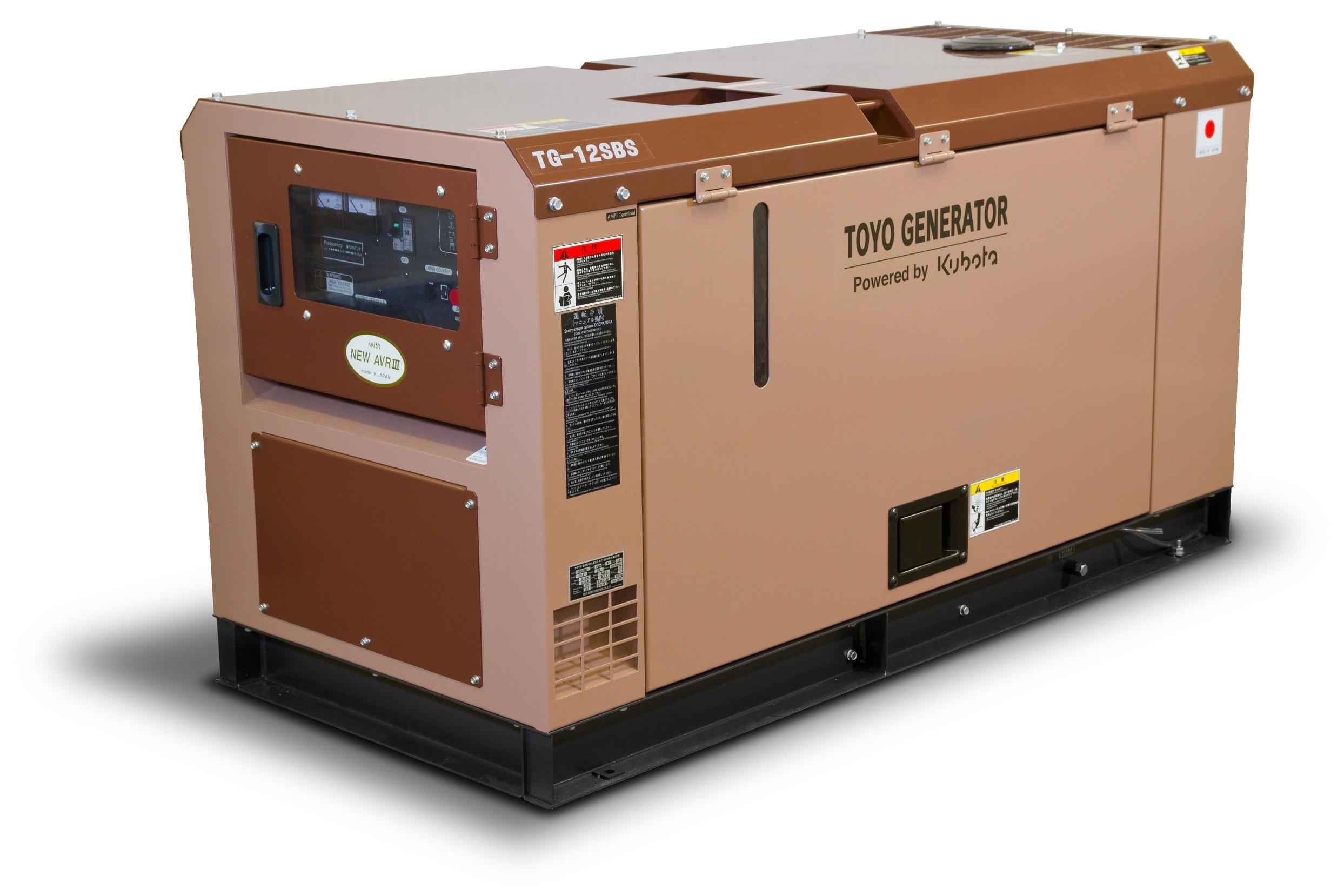 Дизельный генератор (электростанция) TOYO TG-12SBS