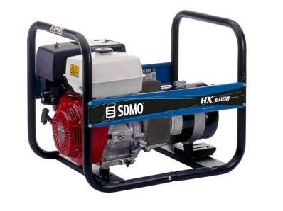 Бензиновый генератор (Бензогенератор) SDMO HX 6000-C