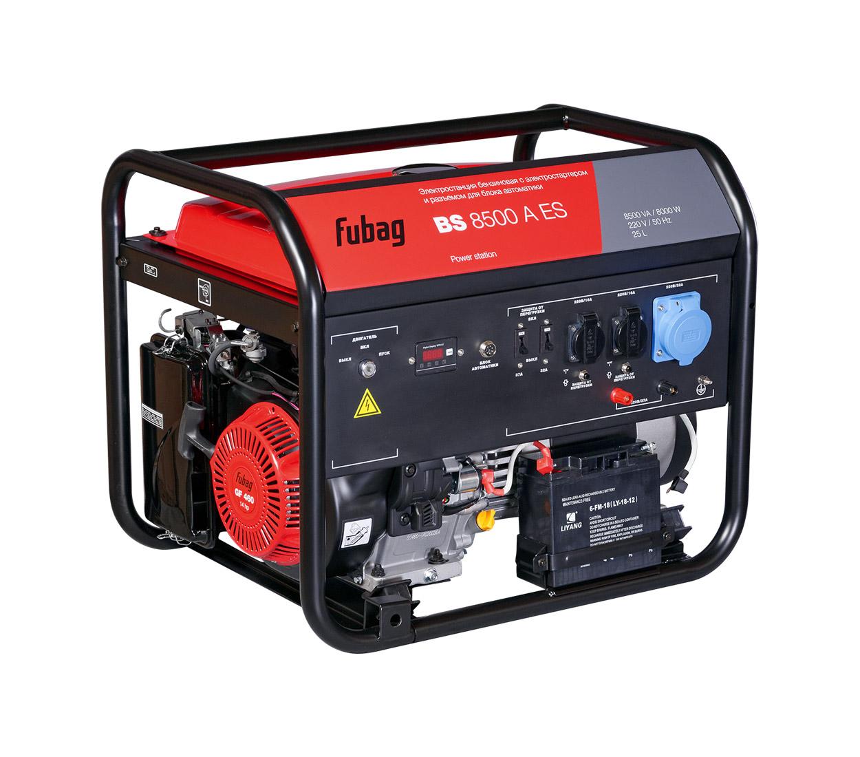 Бензиновый генератор (Бензогенератор) FUBAG BS 8500 A ES