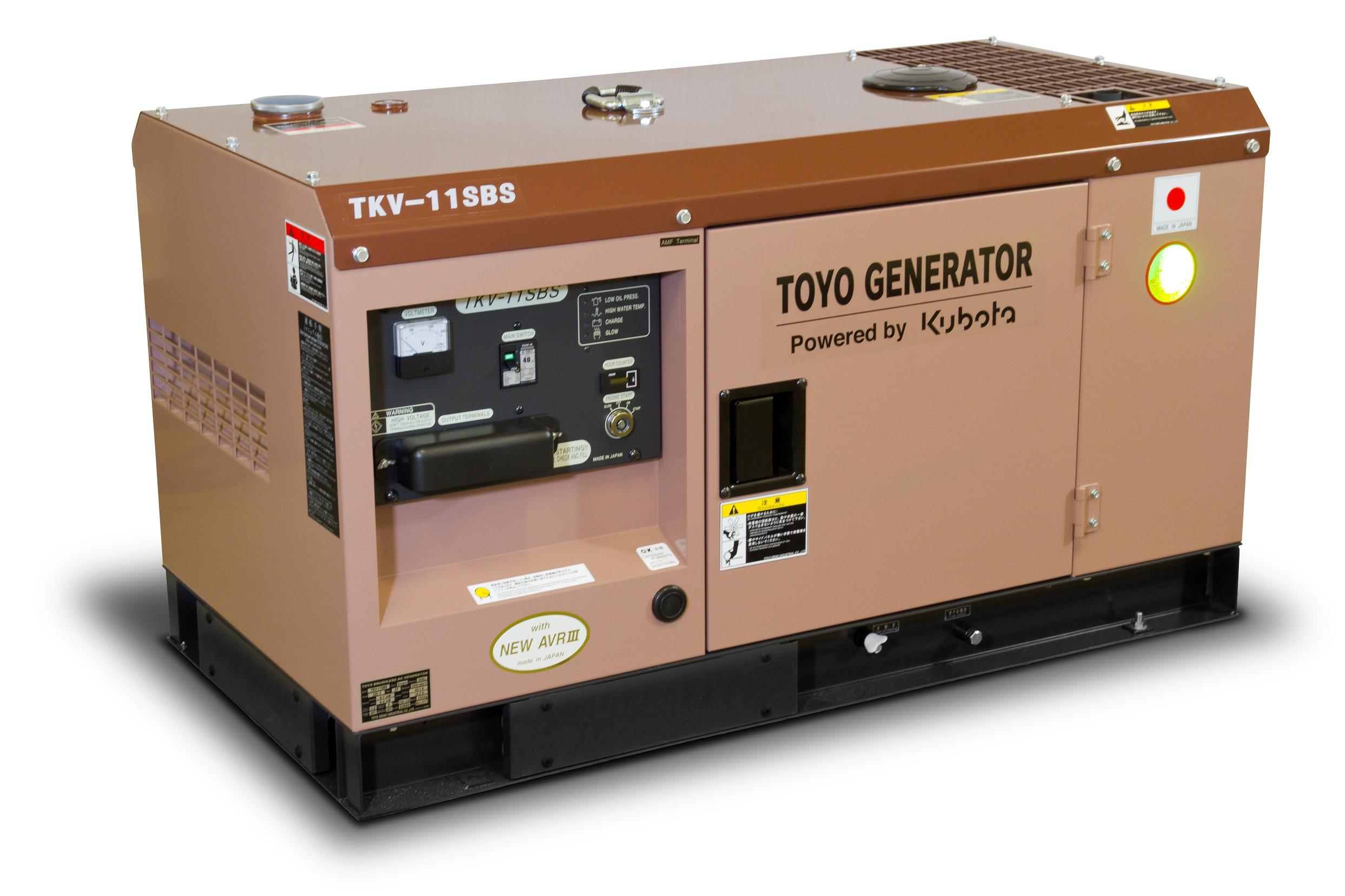 Дизельный генератор (электростанция) TOYO TKV-11SBS