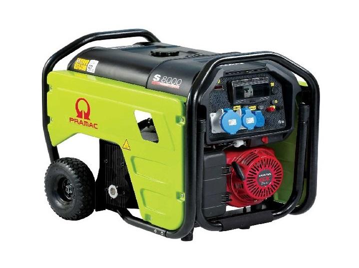 Бензиновый генератор (Бензогенератор) Pramac S8000, 400/230V, 50Hz #CONN #DPP