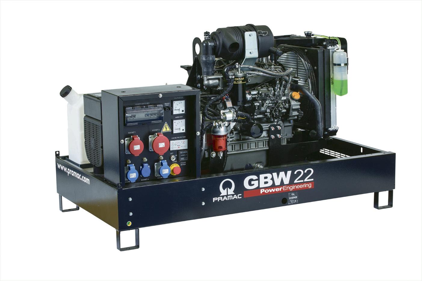 Дизельный генератор (электростанция) Pramac GBW22P