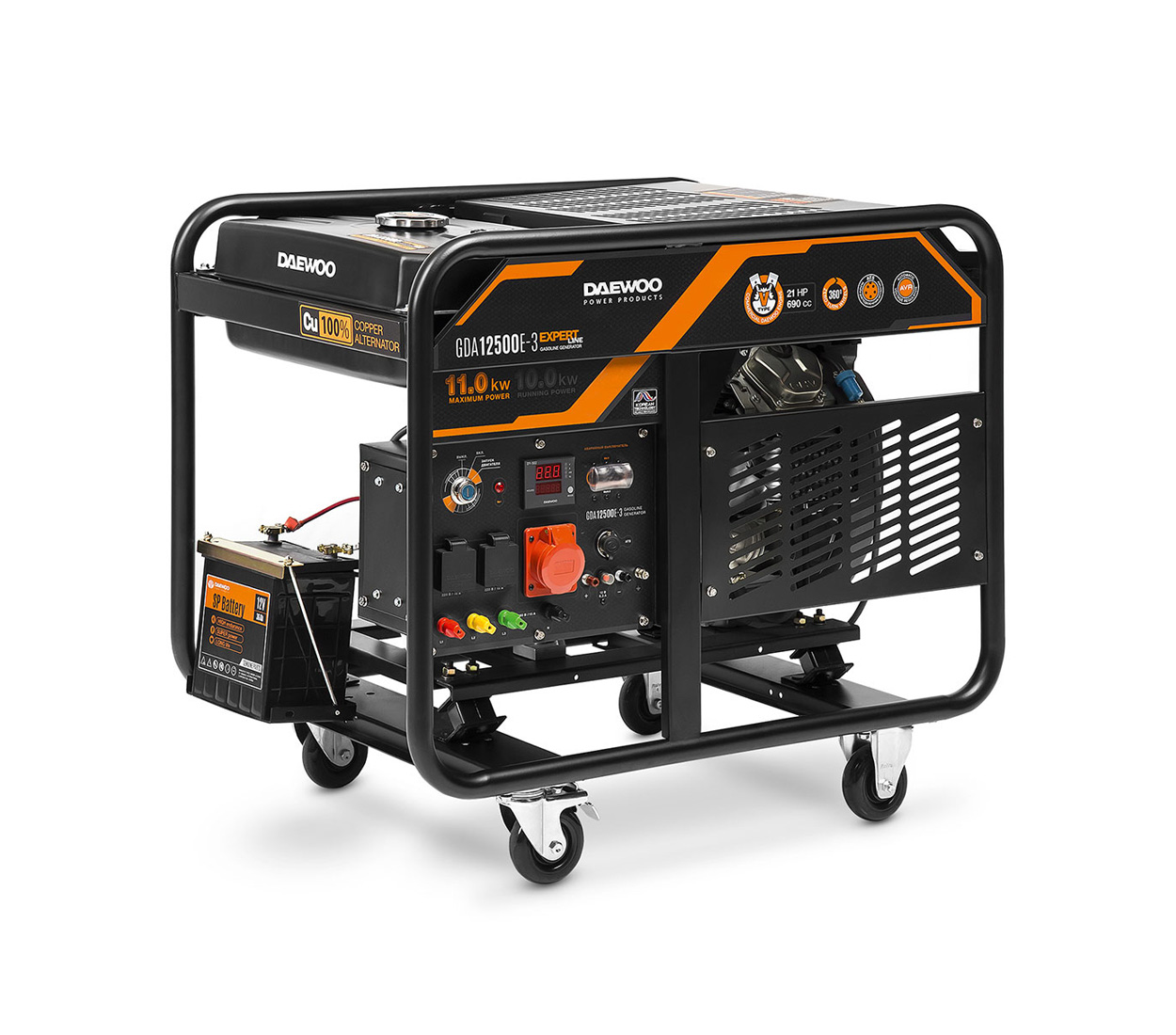 Бензиновый генератор (Бензогенератор) DAEWOO GDA 12500E-3