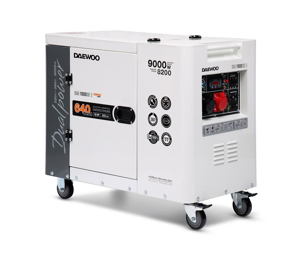 Дизельный генератор (электростанция) DAEWOO DDAE 11000DSE-3