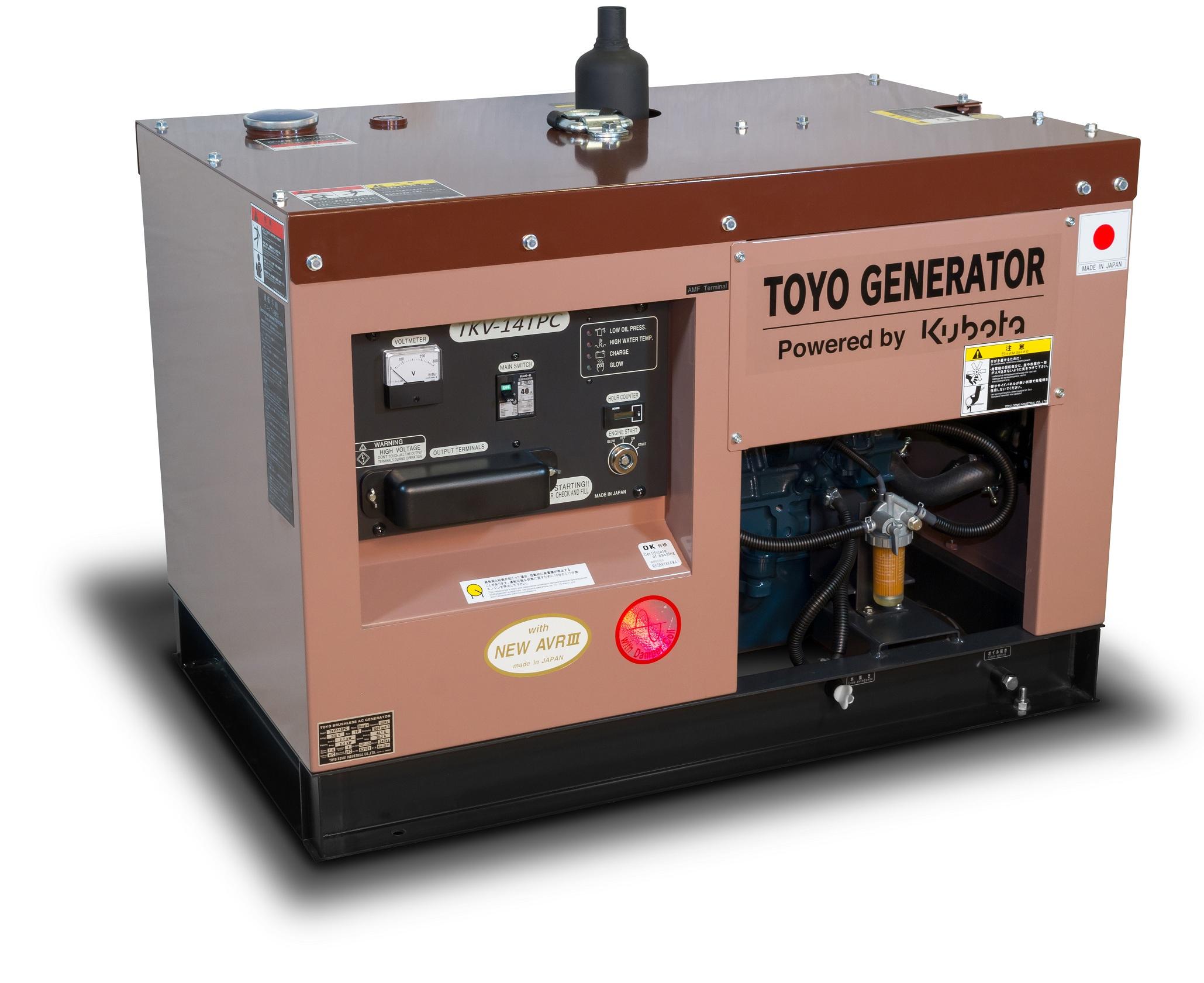 Дизельный генератор (электростанция) TOYO TKV-14TPC