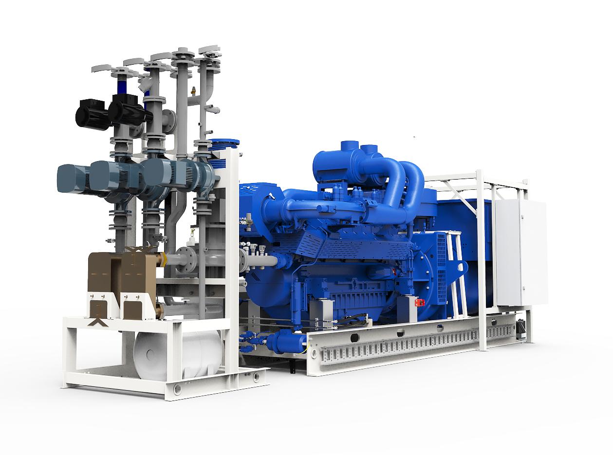 Газопоршневая электростанция (ГПУ) PowerLink TGE800-NG