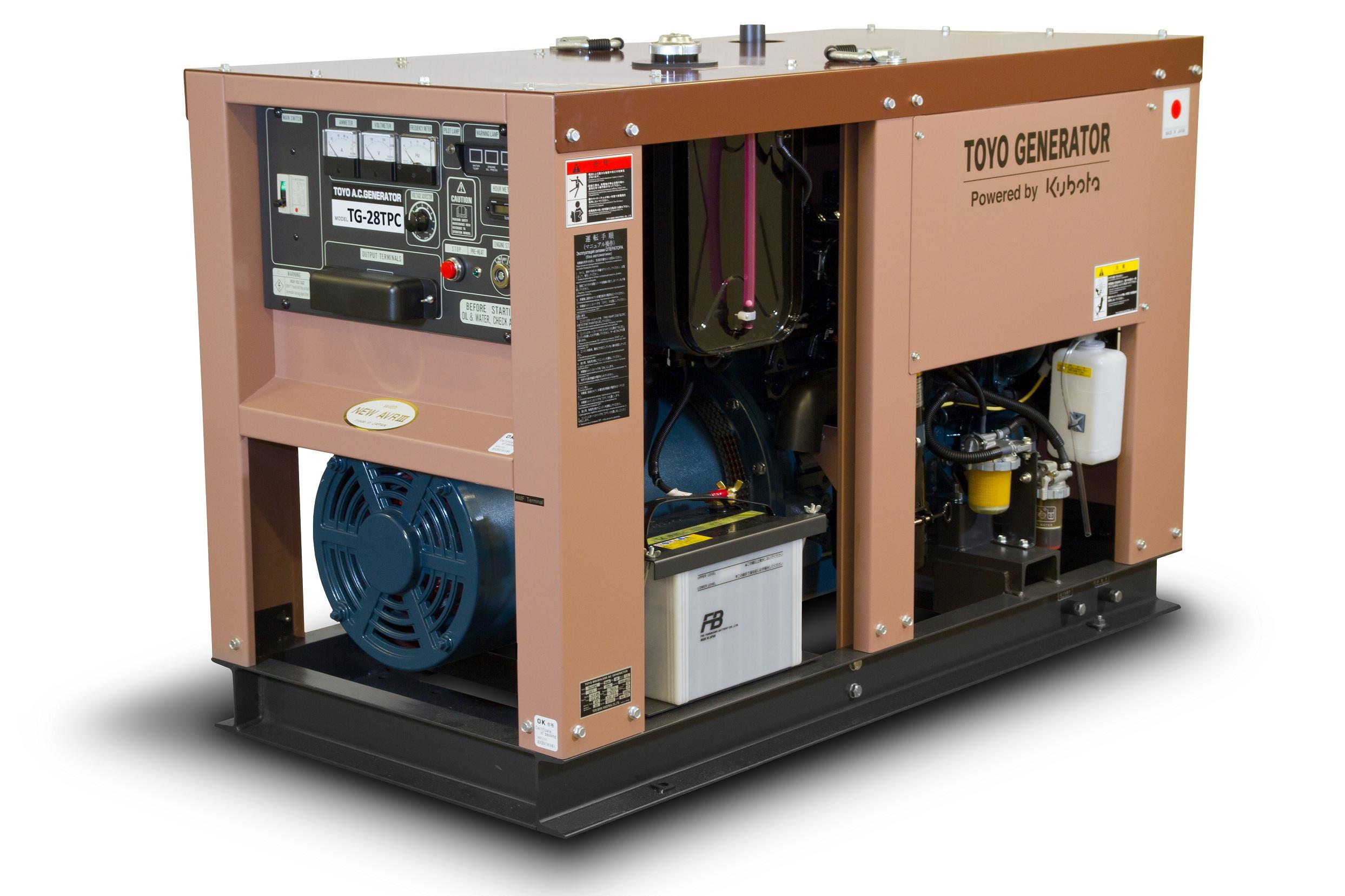 Дизельный генератор (электростанция) TOYO TG-28TPC