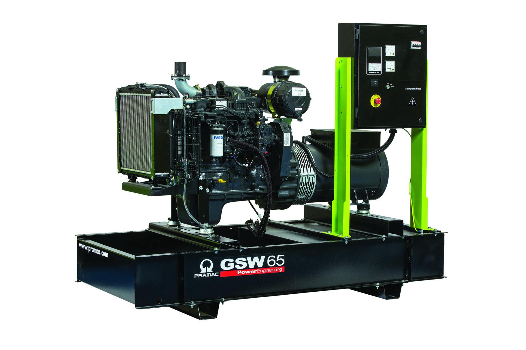 Дизельный генератор (электростанция) Pramac GSW65I