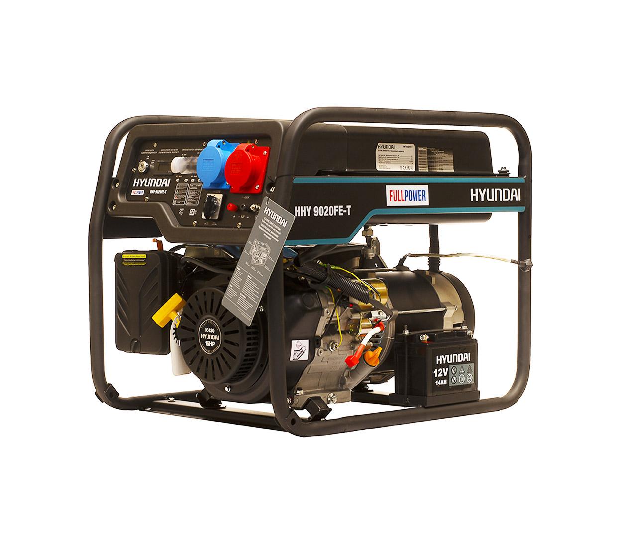 Бензиновый генератор (Бензогенератор) HYUNDAI HHY 9020FE-T