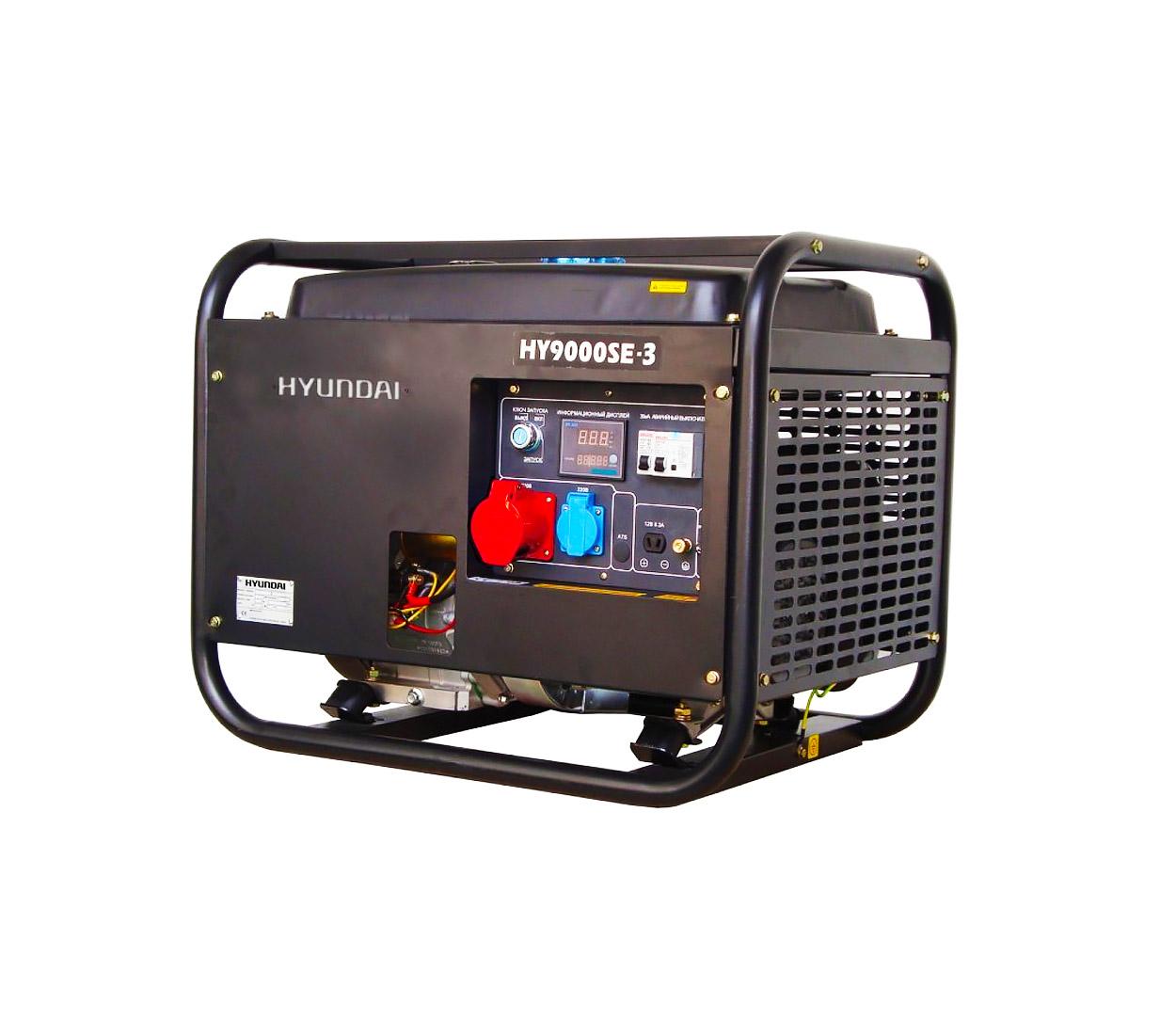 Бензиновый генератор (Бензогенератор) HYUNDAI HY 9000SE-3