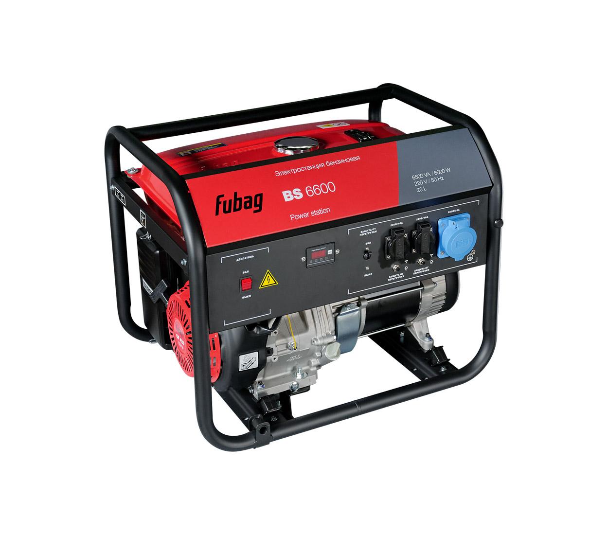 Бензиновый генератор (Бензогенератор) FUBAG BS 6600