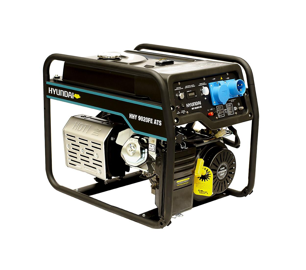 Бензиновый генератор (Бензогенератор) HYUNDAI HHY 9020FE ATS