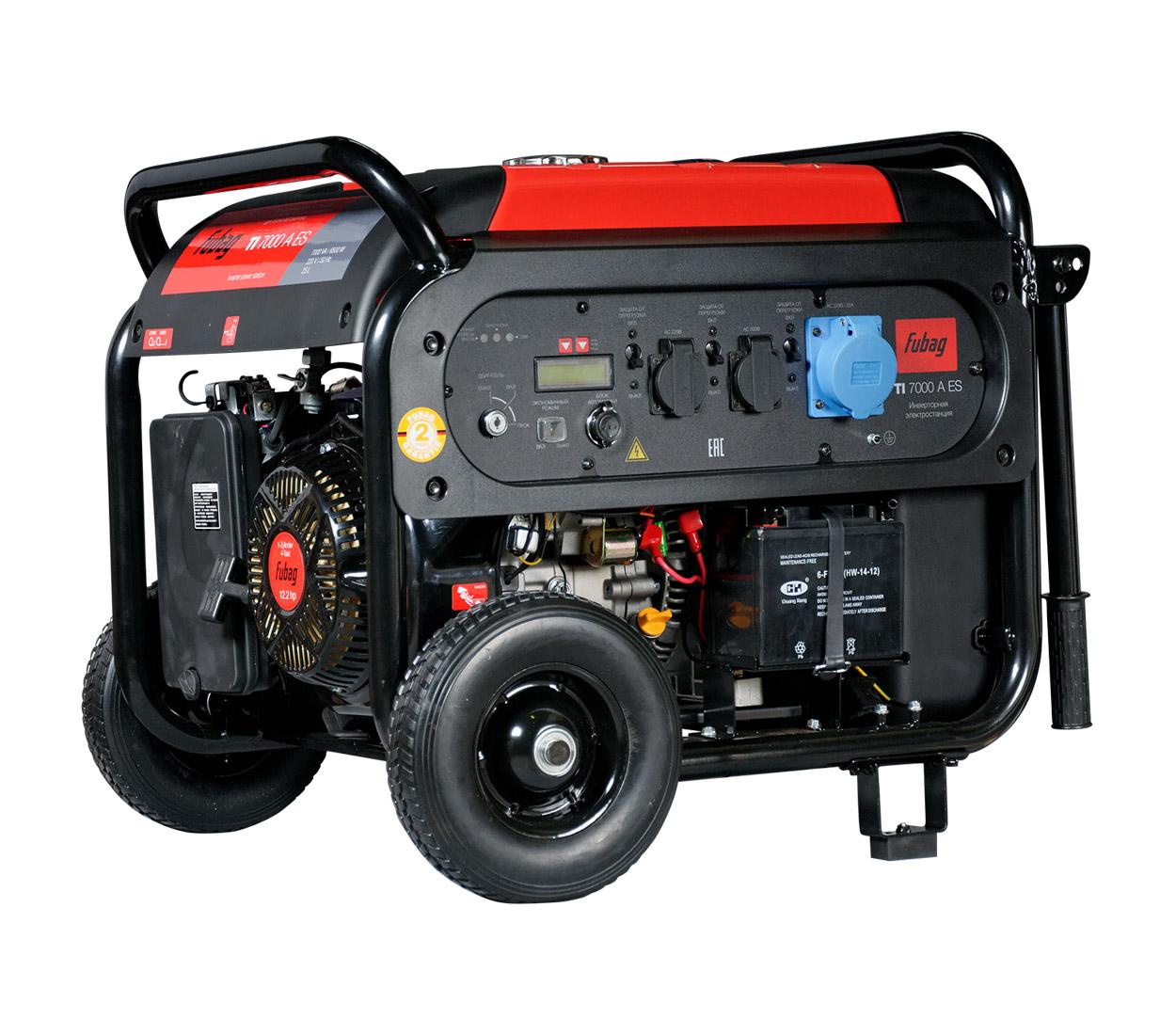 Бензиновый генератор (Бензогенератор) FUBAG TI 7000 A ES