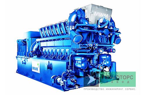 Газопоршневая электростанция (ГПУ) MWM TCG 2032 V16