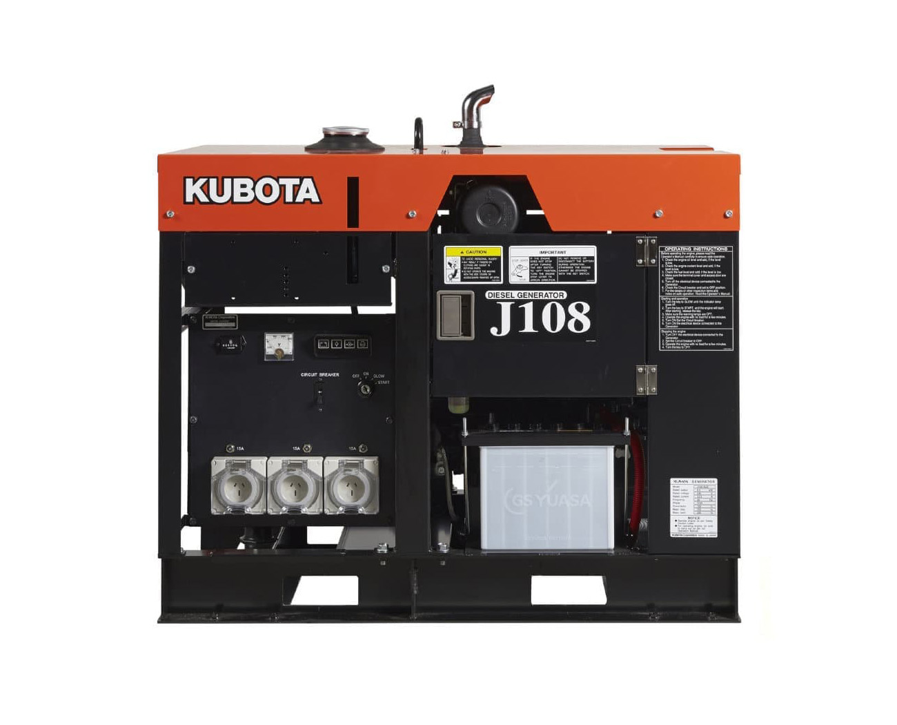 Дизельный генератор (электростанция) Kubota J108